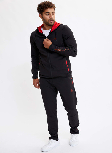 DeFacto Kapüşonlu Sporcu Sweatshirt Siyah